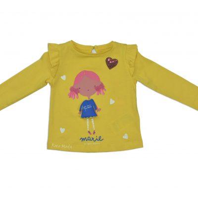 Camiseta Amarilla Marie Bebe 3D