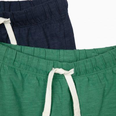 2 Shorts Verde/Azul Marino