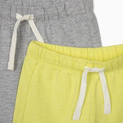 2 Shorts Verde Lima/Gris
