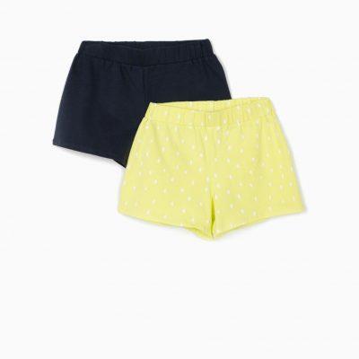 2 Shorts Lunares Verde Lima/Marino
