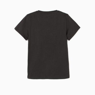 Camiseta Mickey y Pluto Gris