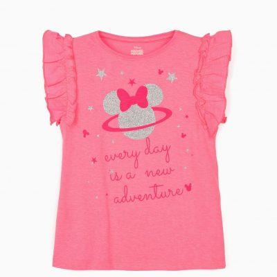 """Camiseta Minnie """"Adventure"""" Rosa"""