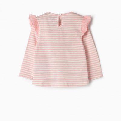 Camiseta Minnie Rosa/Blanca Bebe