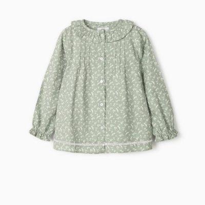 Blusa Verde Flores