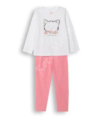 "Pijama ""Sweet kitty"" Blanco/Rosa"