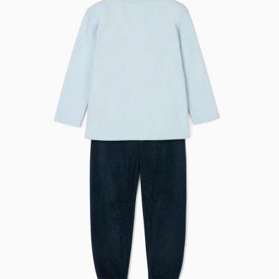 Pijama Oso Bufanda Celeste