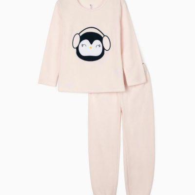 """Pijama """"Pingüino"""" Rosa"""