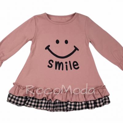 Vestido SMILE Rosa & Gris